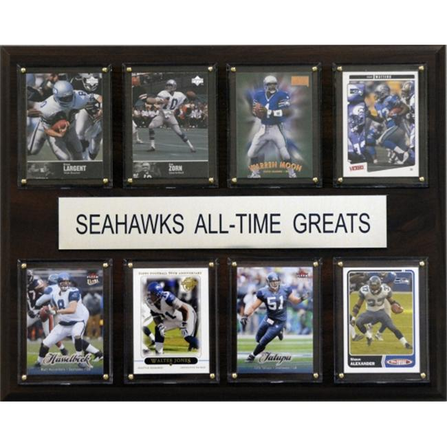 C & I Collectables 1215ATGSEAH NFL Seattle Seahawks All-Time Greats Plaque
