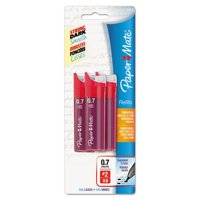 Papermate Lead Refills, 0.7mm, HB, Black, 3 Tubes of 35, 105/Pack, PK - PAP66401PP, Lead_Degree_Hardness - HB By Paper Mate