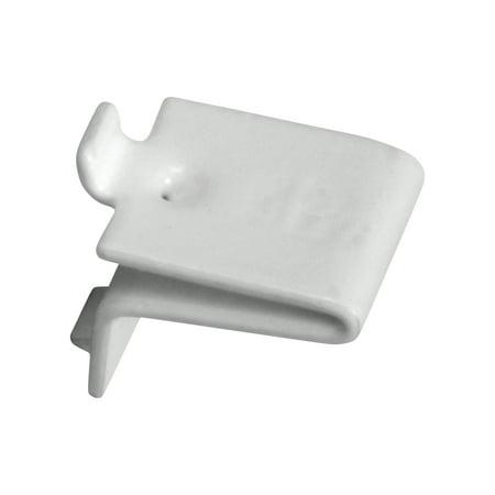 - Knape & Vogt Adjustable Steel Pilaster Shelf Support Clip, White, 20 Pack