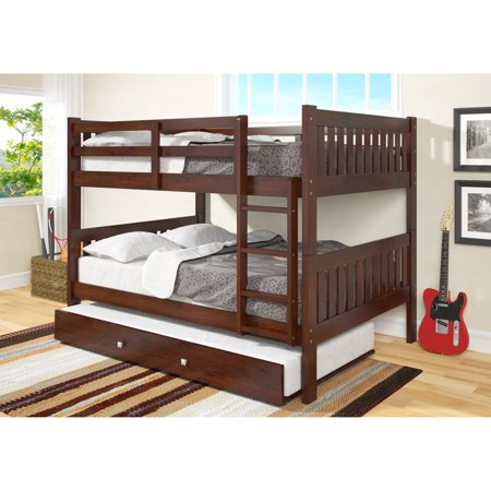 Donco Kids  Full over Full Mission Bunk Bed with Twin Trundle