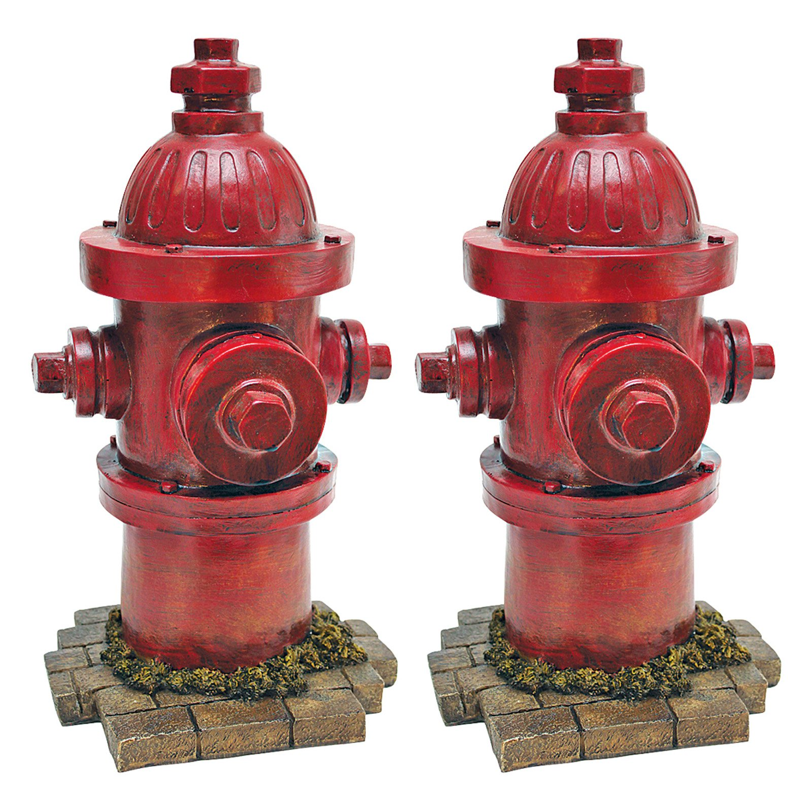 Design Toscano Dogs Second Best Friend Fire Hydrant Statue Set of 2 by Design Toscano