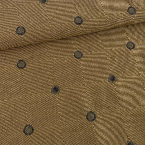Butterscotch Yellow/Brown Polka Dots Decorating Fabric, Fabric By the Yard