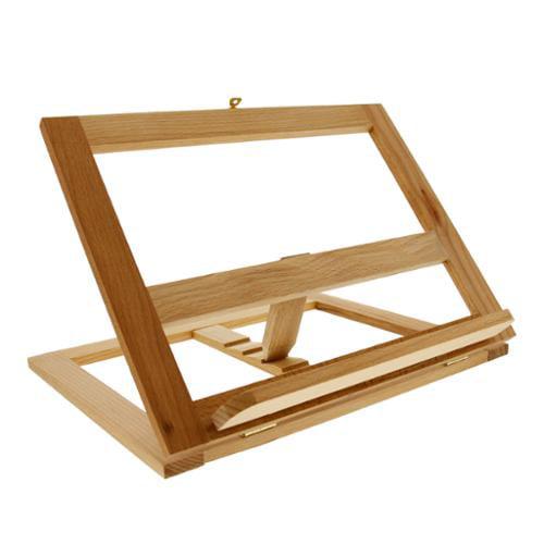 U.S. Art Supply Large Wooden Bookrack Easel & Cookbook Holder