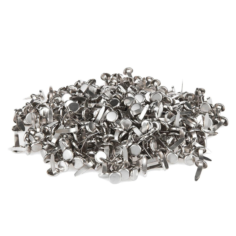 MILISTEN 50 Pcs Mini Brads Multi Color Small Round Metal Paper Fasteners Decorative Pearl Brads for Art Scrapbook Craft DIY