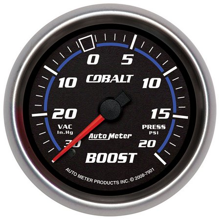 Mechanical Boost Controller - Auto Meter 7901 Boost / Turbo  - 30 InHG / 20 PSI - Mechanical - Cobalt