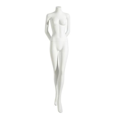 Mondo Mannequins' Niki Headless Female Mannequin in Matte White (Pose - Headless Mannequin