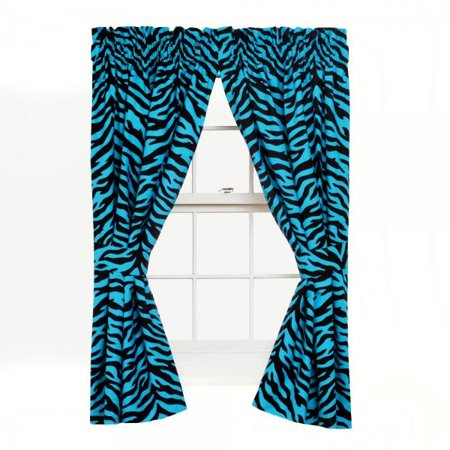 Karin Maki Zebra Rod Pocket Curtains, Blue ()
