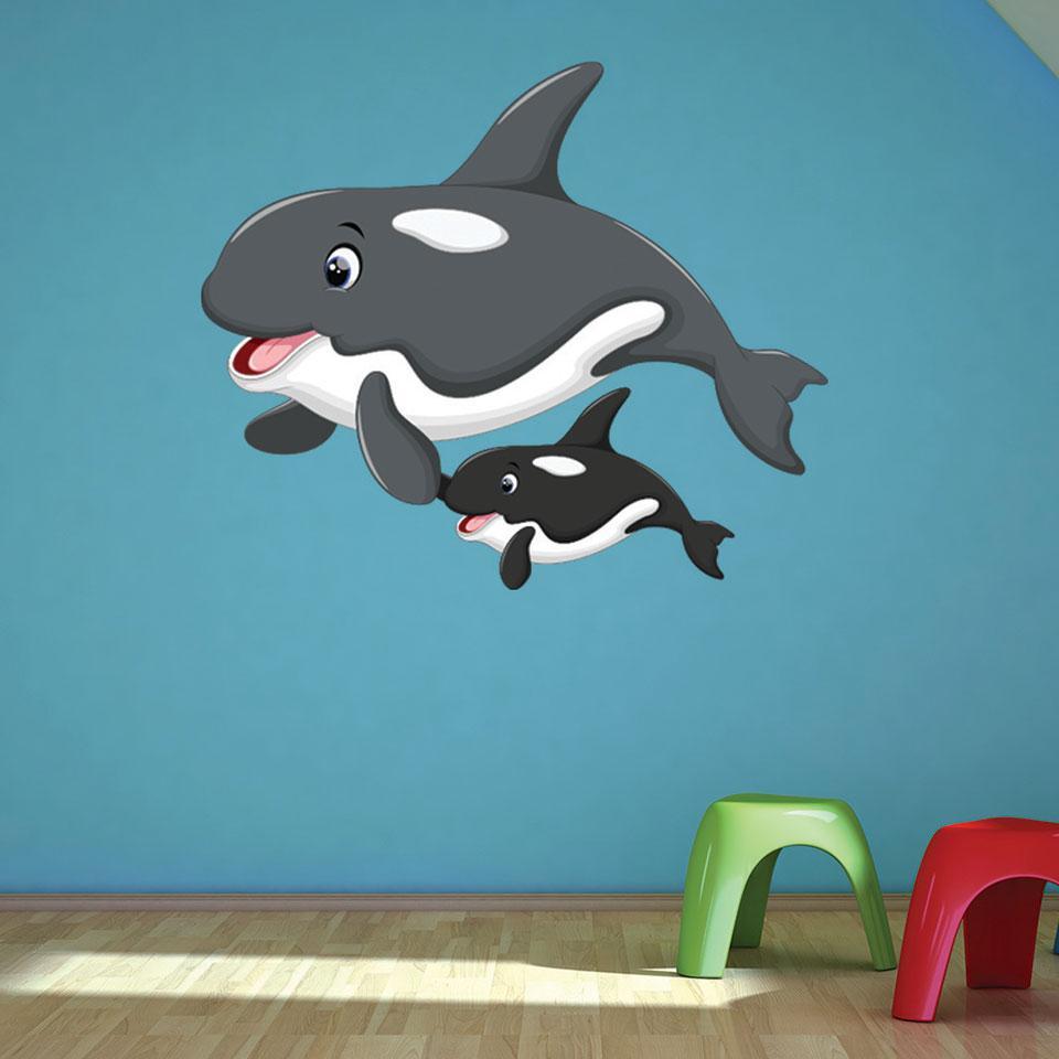 Sticker Killer Whale Wall Art Decal