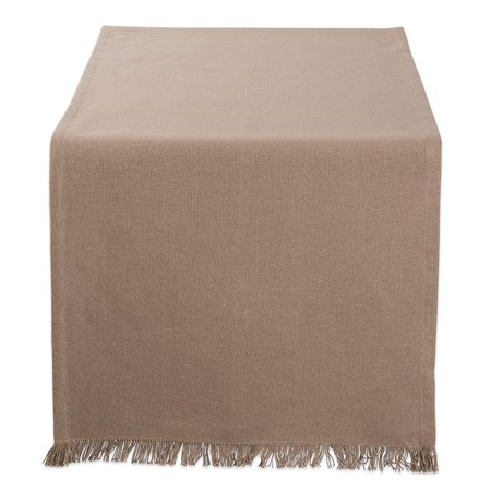 """DII Solid Heavyweight Fringed Kitchen Table Runner, 108""""x14"""", 100% Cotton, Multiple Colors/Sizes"""