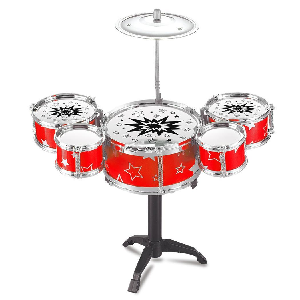 Kids Toy Jazz Drum Kit Musical Instrument Toy Early Educational Toy Caroj - image 3 of 3