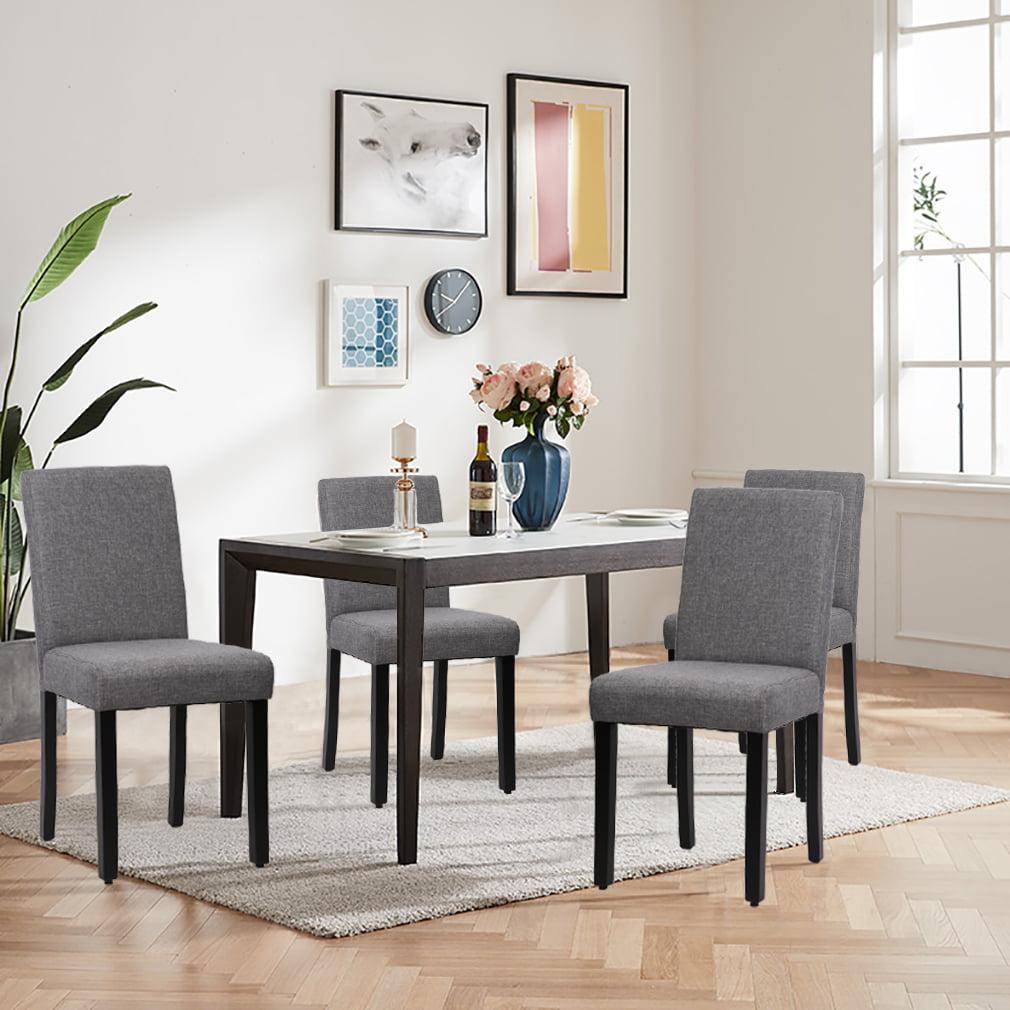 Dining Chair Set Of 4 Elegant Design