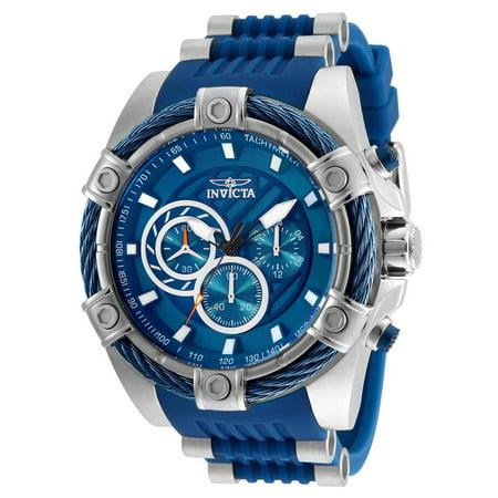 - 25524 Chronograph Bolt 52mm Blue Dial Men's Polyurethane Watch