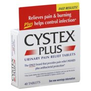Cystex Urinary Pain Relief Double Auction Formula Tablets, 40ct