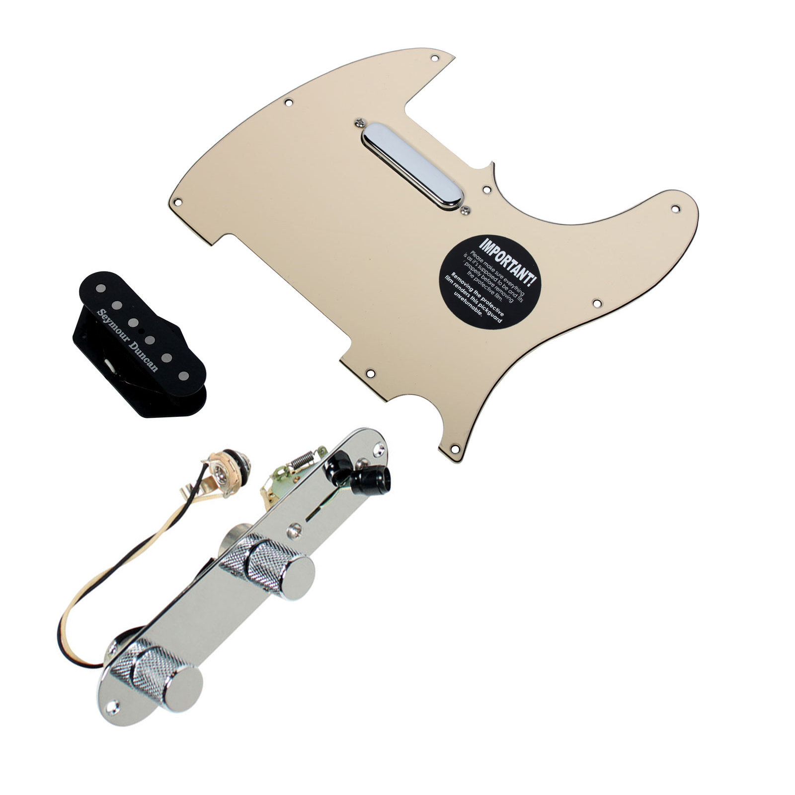Fender Tele Telecaster Loaded Pickguard Seymour Duncan Hot Pickups T3W, CR by