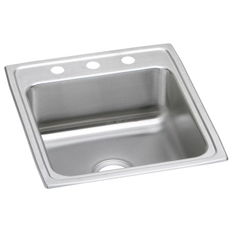 Elkay LRAD202255 Gourmet 19 1 2 Single Basin Drop In Stainless Steel