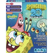 Fruit Snacks SpongeBob SquarePants Snacks 10 Pouches 0.8 oz Each