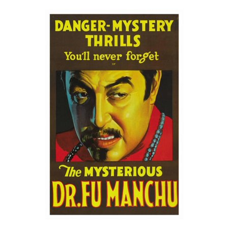 The Mysterious Dr. Fu Manchu Print Wall Art (Fake Fu Manchu Mustache)