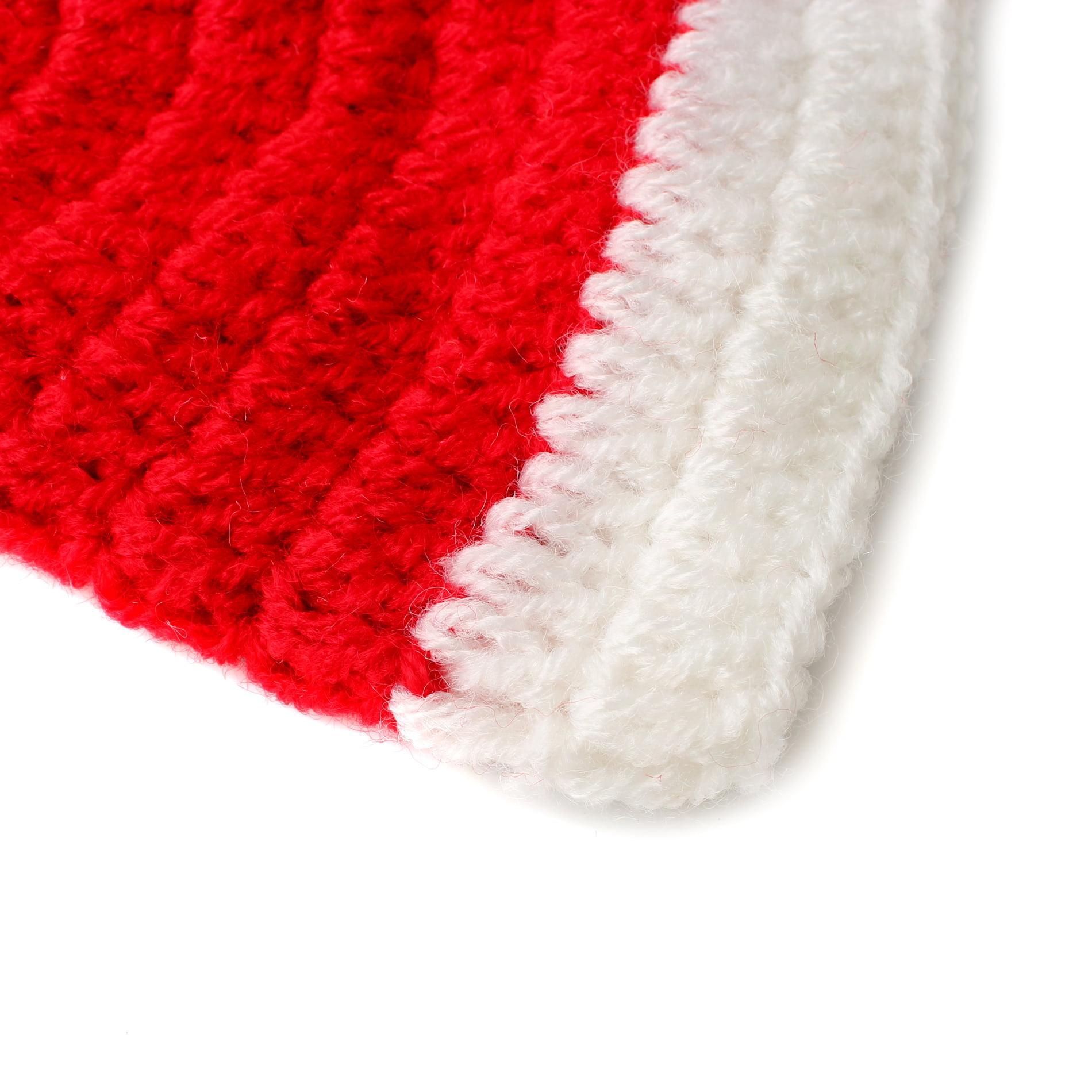 36b8f952b3e Newborn Baby Christmas Knit Crochet Hat Photography Props Costume Outfits  for Boys Girls - Santa Hat - Walmart.com