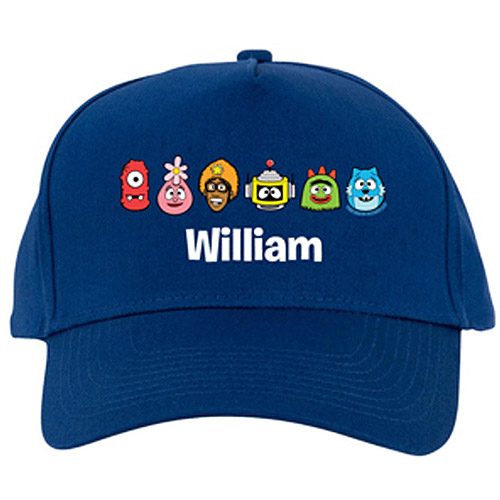 Personalized Yo Gabba Gabba! Tiny Heads Blue Baseball Cap