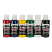 Createx Airbrush Primary Colors Set - 2Oz., 6 Primary Colors