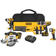 DeWalt DCK592L2 20 Volt MAX Five Tool Combo Kit With Impact Wrench, Circular Saw