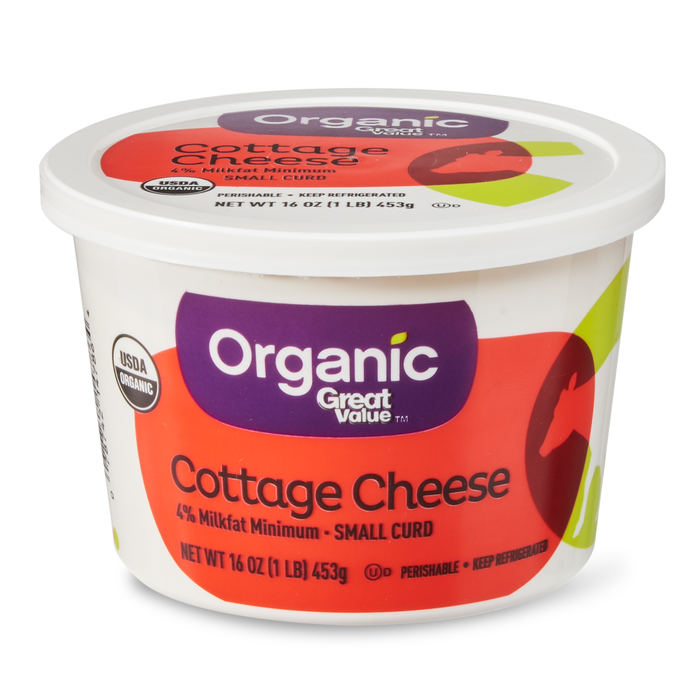 Tremendous Great Value 4 Milk Fat Organic Small Curd Cottage Cheese 16 Oz Home Remodeling Inspirations Cosmcuboardxyz