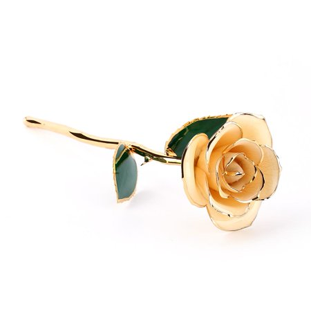 Greensen Love Forever Long Stem Dipped 24k Gold Rose Foil Trim Wonderful Gifts for Mother's Day, Thanksgiving, Christmas, Valentine's Day, Birthdays, Graduations,Anniversaries,Gold Dipped Rose Flowers - image 5 of 6