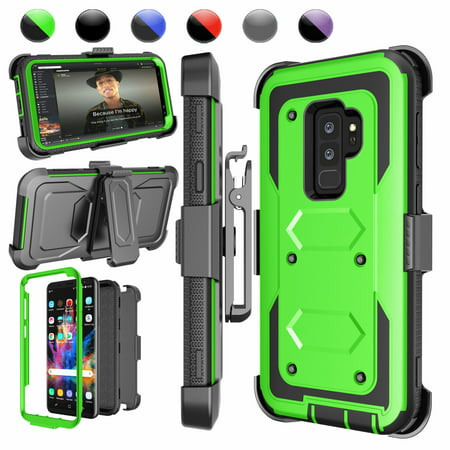 innovative design 4bb10 9646c Samsung Galaxy S9 Plus Cases, S9 Plus Holster Belt, Galaxy S9+ Clip, Njjex  Full-body Rugged with Kickstand + Holster Belt Clip Carrying Armor Case ...