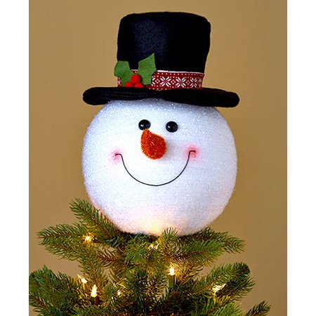 snowman christmas tree topper frosty top hat ornament holiday trim decoration - Top Hat Christmas Decorations