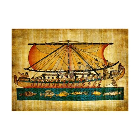 Ancient Egyptian Parchment Laminated Print Wall Art By -