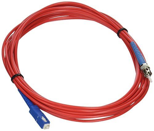 5m SC-ST 9/125 OS2 Simplex Single-Mode PVC Fiber Optic Cable - Red