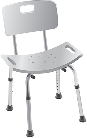 secure adjustable shower and bath chair with seat back toolfree assembly one