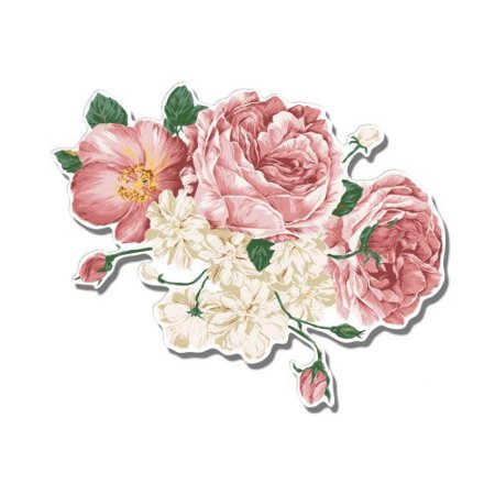Flower Bouquet Vintage Style Pretty Roses Floral - Vinyl Sticker Waterproof Decal Sticker 5