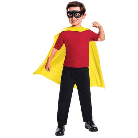 DC Comics Robin Cape & Mask Child Costume Set - Dc Robin Costume