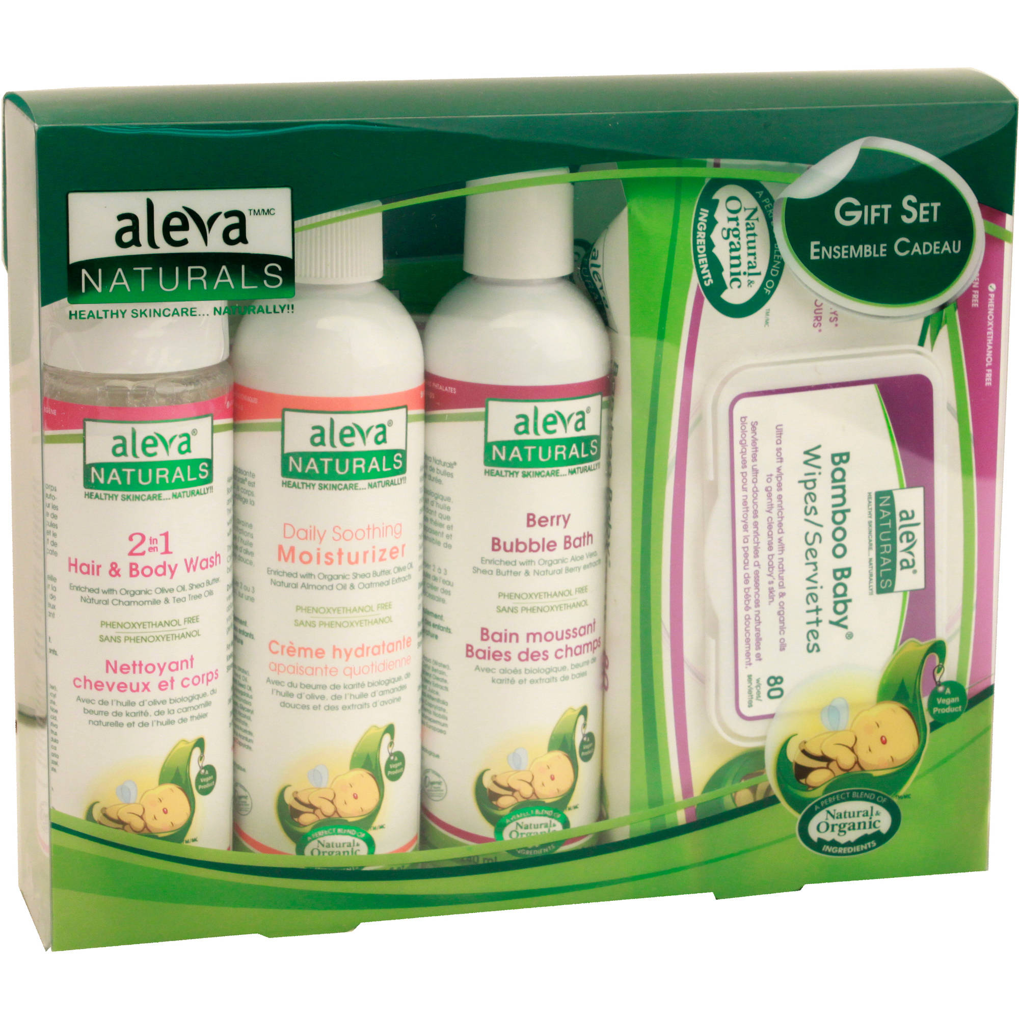 Aleva Naturals Newborn Gift Set, 4 pc