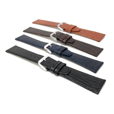 20mm Womens', Slim, Lizard Style, Leather Watch Band Strap - image 5 of 7