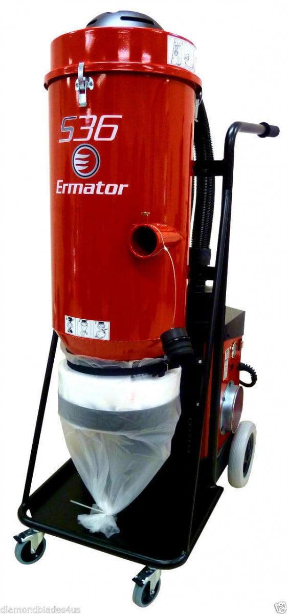 Ermator S36 HEPA Heavy Duty Dust Collector Vac 4 Concrete Grinder Pro Vac by Ermator