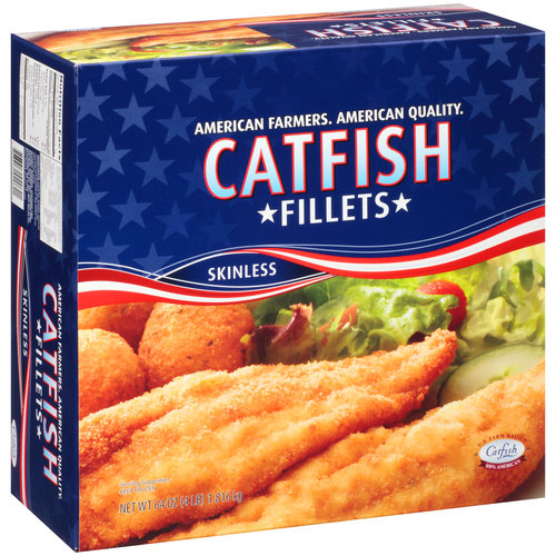 Frozen Skinless Catfish Fillets, 64 oz