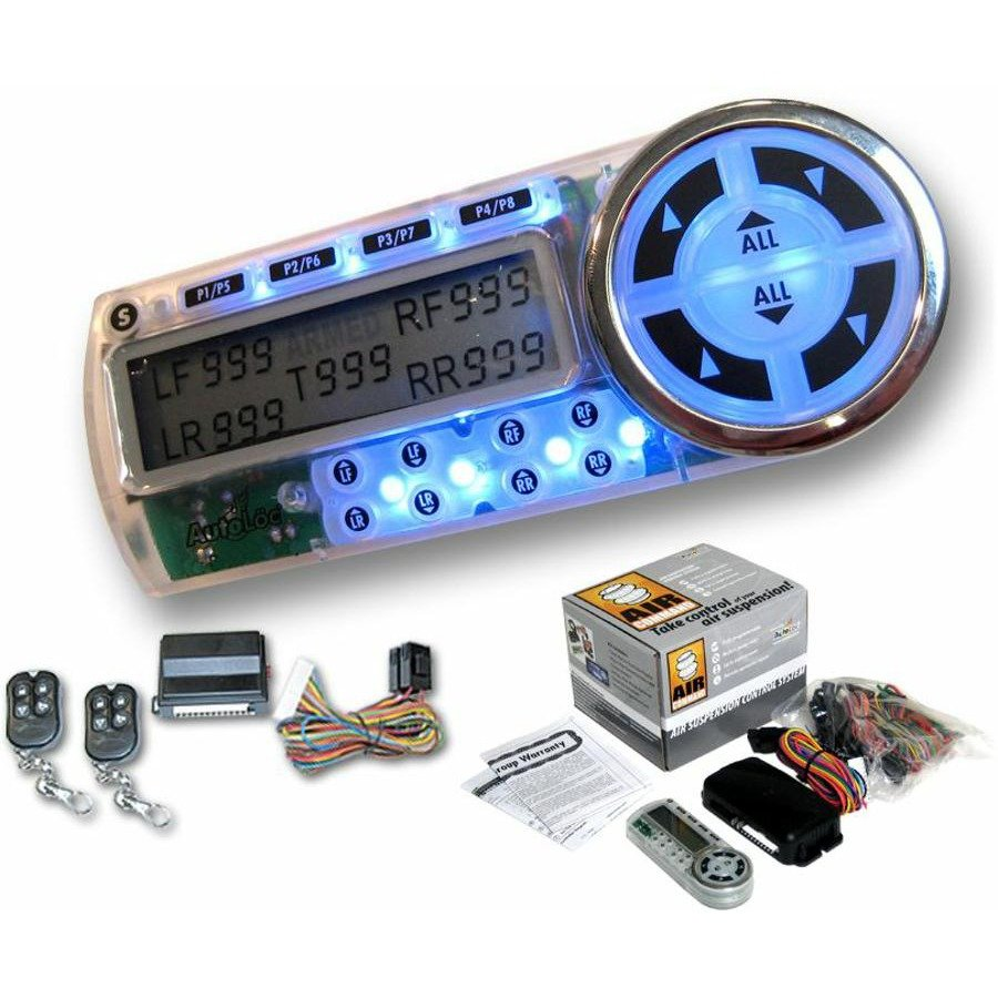 8 Presets Air Genie Air Suspension Control System w/ Remotes diamond t 510