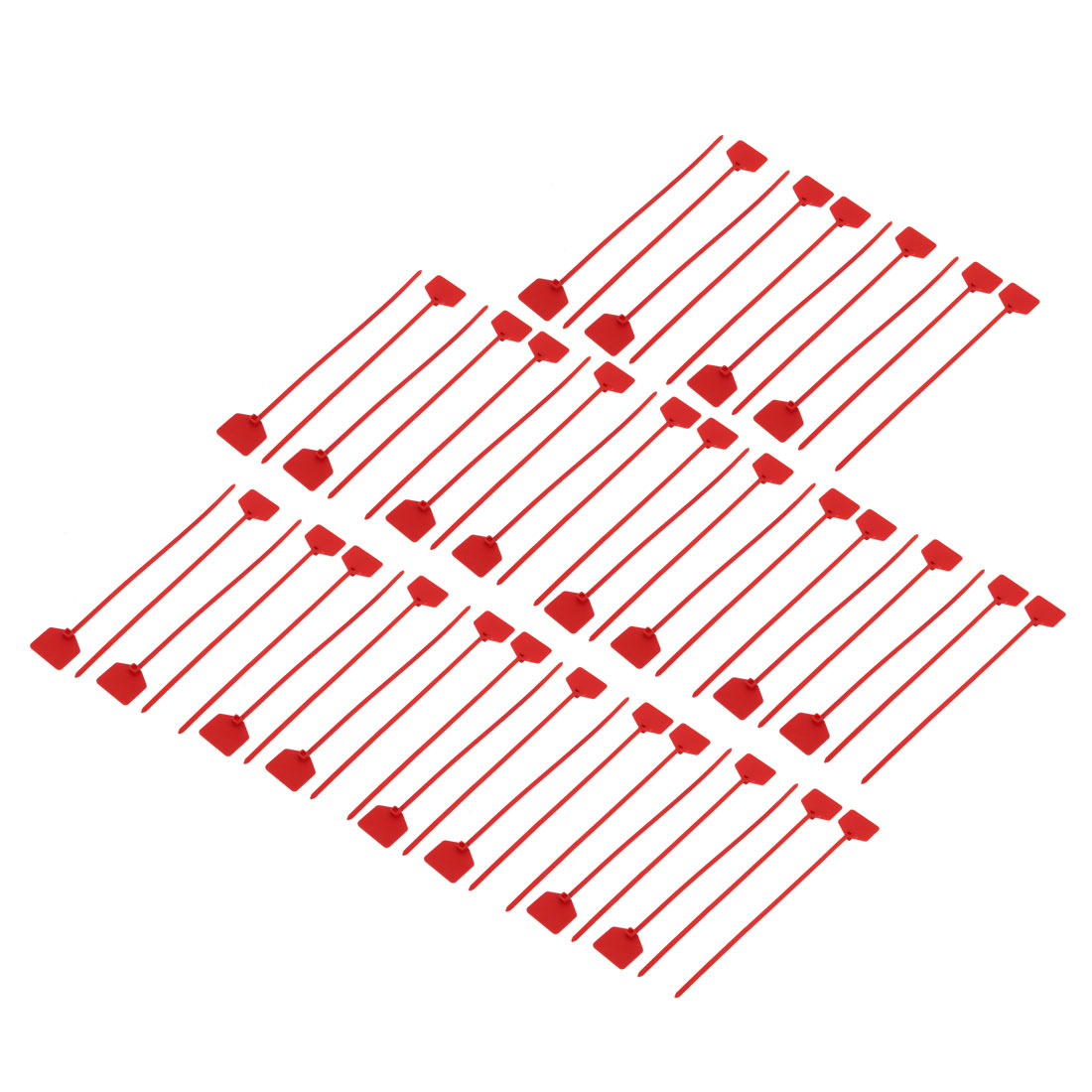 50pcs 220mm Length Nylon Self-Locking 30mm x 20mm Label Cable Tie Zip Red - image 3 de 3