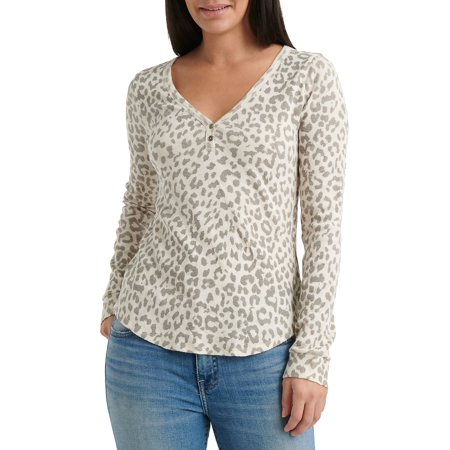 Animal Printed Thermal Top (Best Fourth Of July Sales 2019)