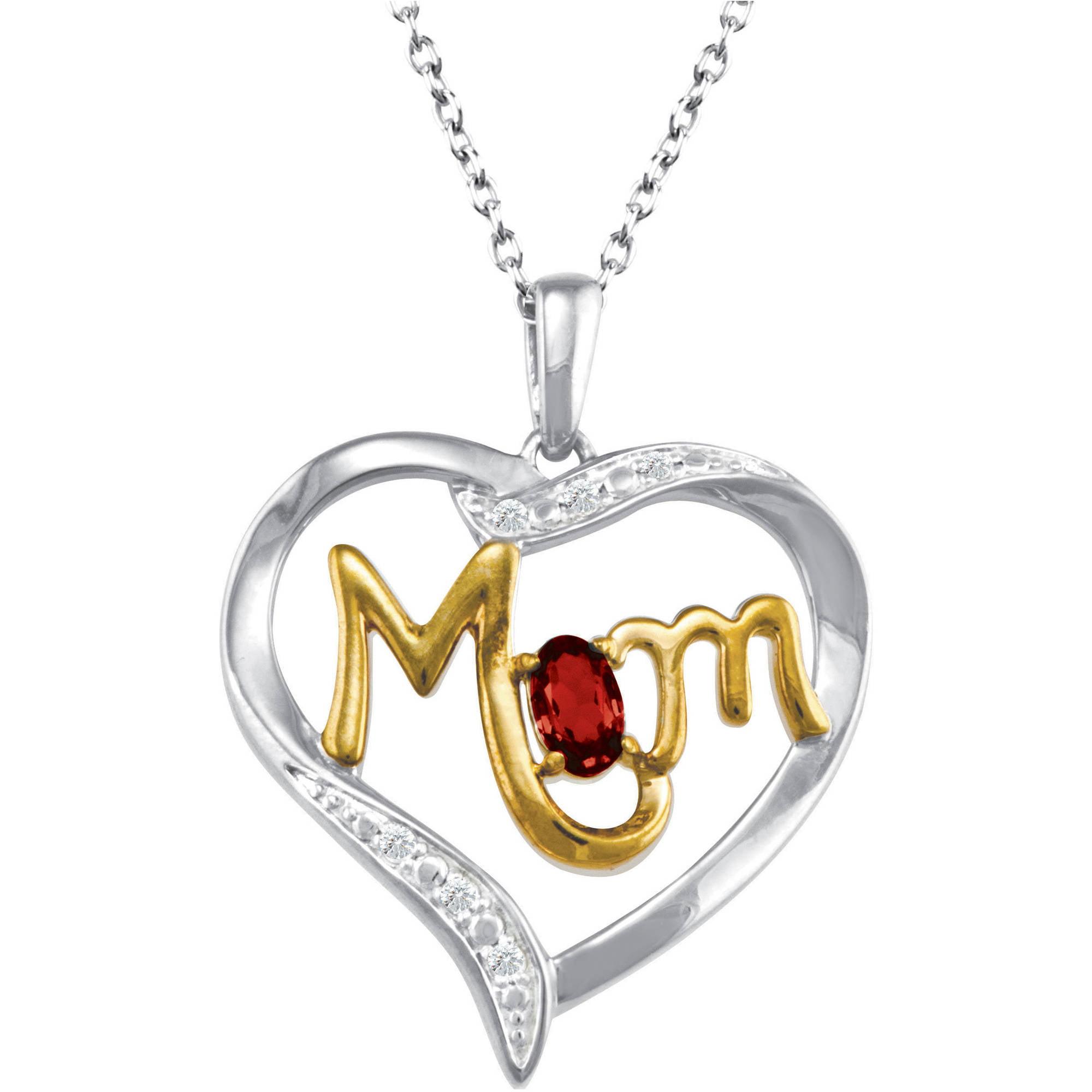 "Personalized Keepsake Mom's Devotion Pendant, 18"""