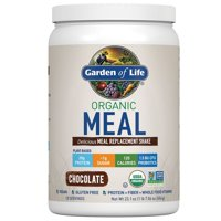 Garden of Life Organic Meal Replacement Shake Powder, Chocolate, 20g Protein, 1.4lb, 23.1oz