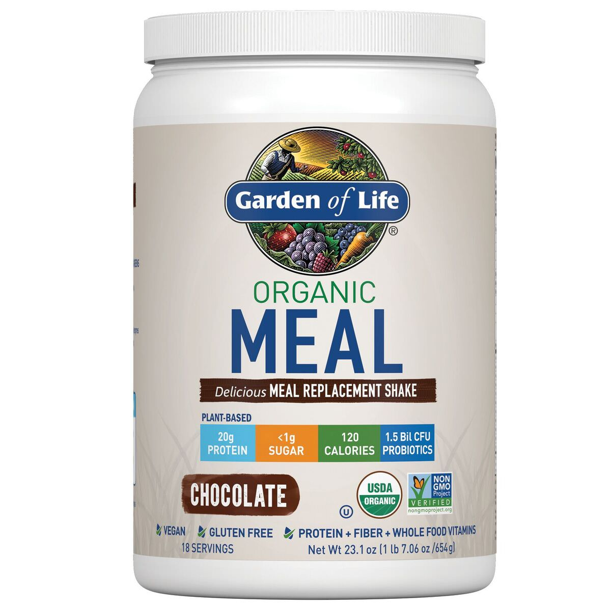 Garden of Life Organic Meal Replacement Powder, Chocolate, 1.4 Lb