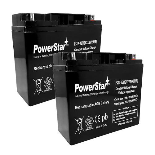 12V 22AH Sealed Lead Acid Battery for APC SCOOTER SU2200X106 SU2200X111 RBC7 UPS-2Pack