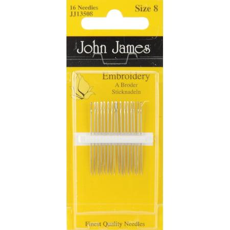 John James Embroidery Hand Needles-Size 8 16/Pkg John James Beading Needle