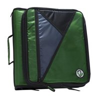 Universal Laptop Zipper Binder with O-Ring, Kelly Green - 2 in.
