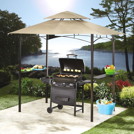 Garden Winds Replacement Canopy for the Grill Gazebo with Solar Lights, Riplock 350