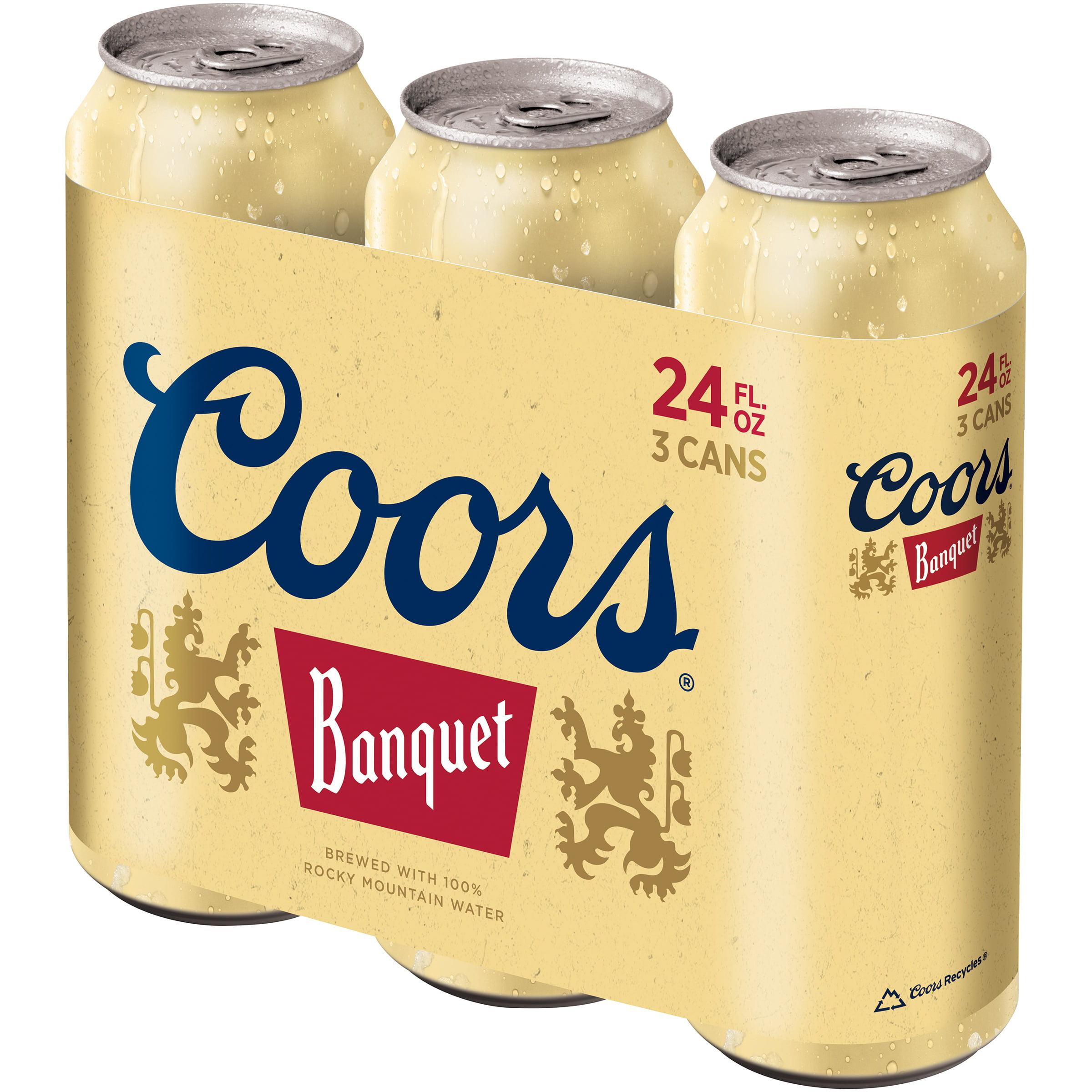 Coors® Banquet Beer 3-24 fl. oz. Cans