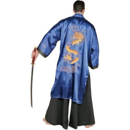Blue Samurai Adult Halloween Costume - Costume Samurai